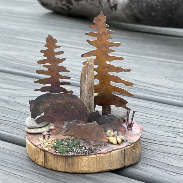 Bears in the Woods miniature scene, view 4