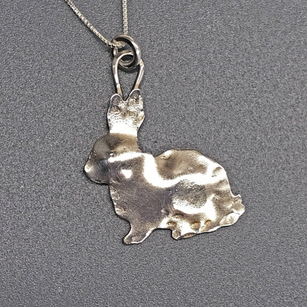 Sterling Bunny Rabbit Necklace