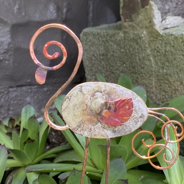 spoon flamingo plant container garden decor