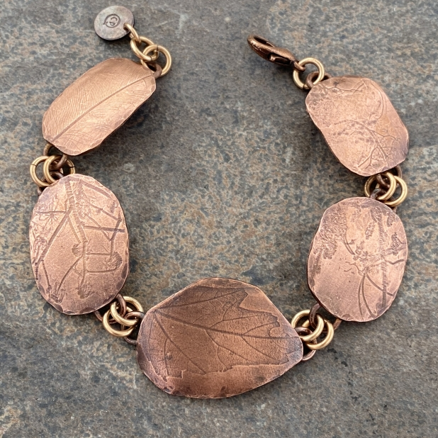 Copper Nature Printed Bracelet, view 2