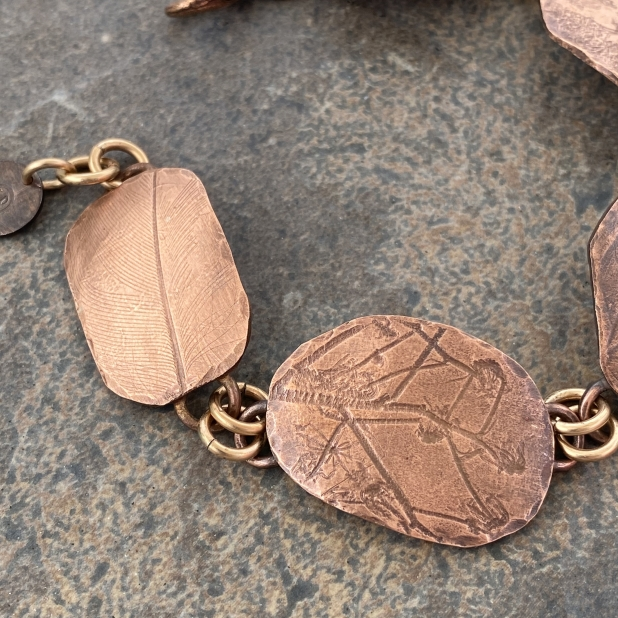 Copper Nature Printed Bracelet, view 3