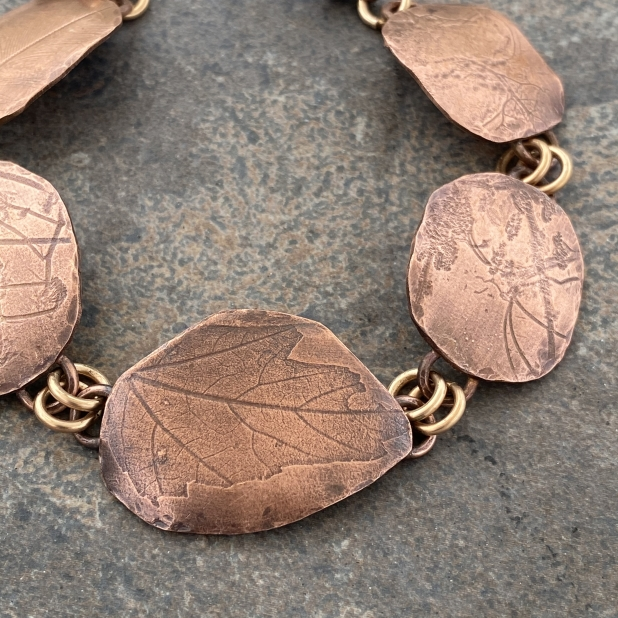 Copper Nature Printed Bracelet, view 4
