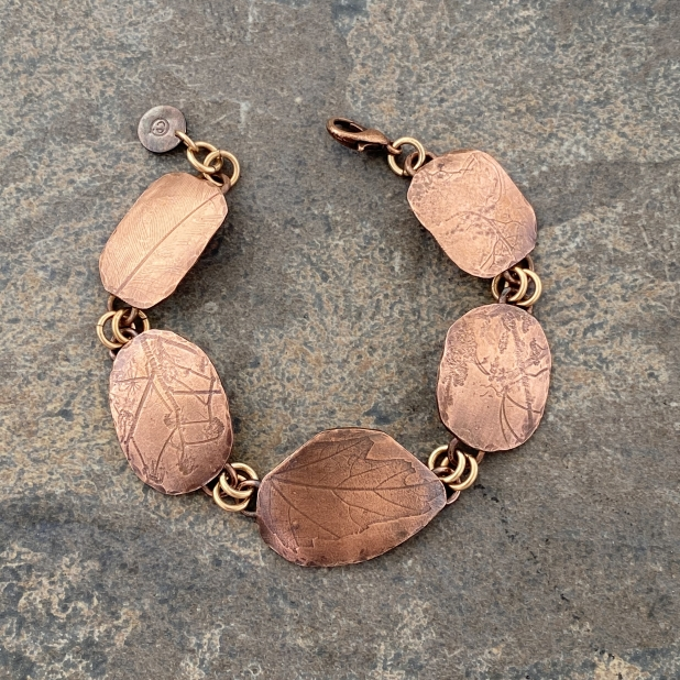 Copper Nature Printed Bracelet, view 6