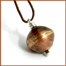 copper penny bead necklace