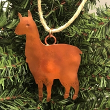 copper alpaca ornament