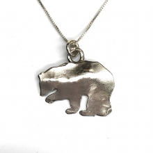 sterling bear silhouette necklace