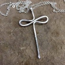 Diaconal Infinity Cross Sterling Silver, LARGE
