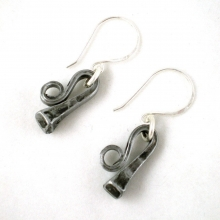 Horseshoe nail dangle earrings