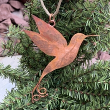 copper hummingbird ornament