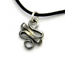 horseshoe nail squiggle necklace