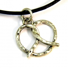 sterling pretzel necklace