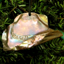 copper cowboy hat ornament