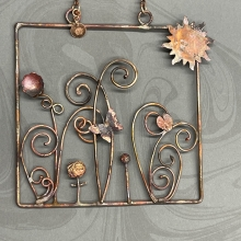 Floral/nature 4x4 mini wall hanging, view 1
