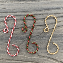 bicolor twist ornament hook samples