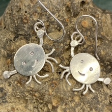 Sterling silver crab earrings, photo 1