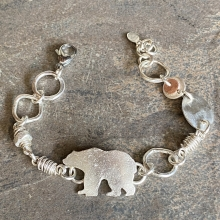 Sterling Bear Bracelet, photo 1