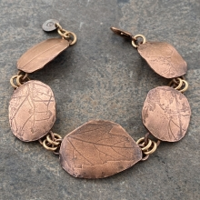Copper Nature Printed Bracelet, view 1