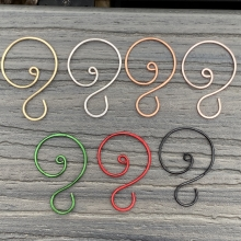 Large Swirl Ornament Hooks Color Samples