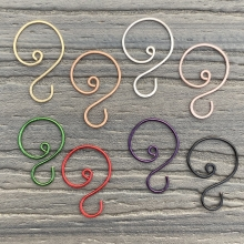 small swirl hook color assortment